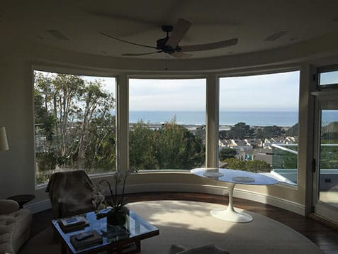 After installing the new curved windows in La Jolla