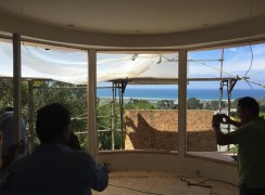 Curved windows installation