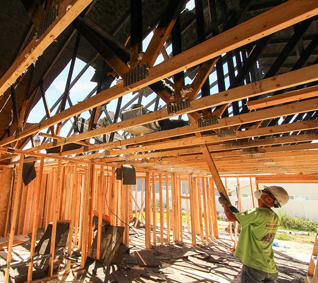 Restoring a fire damaged home in San Diego, California