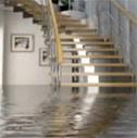 flooded stairwell requires San Diego water damage restoration services