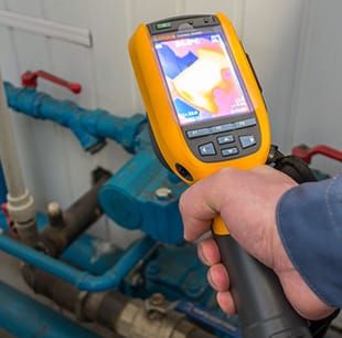 Using a thermal imaging camera for leak detection in San Diego