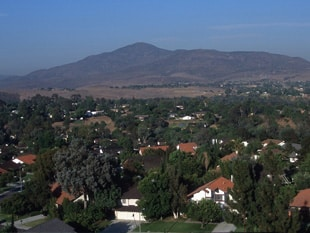 view east from Bonita Downs toward Mount Miguel