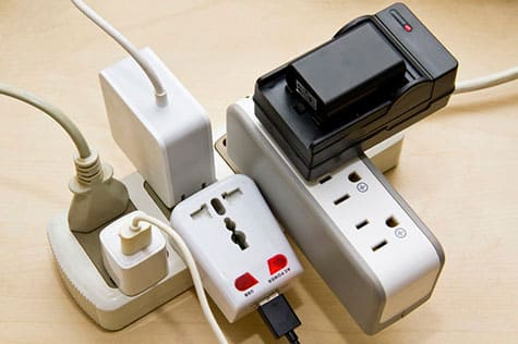 An overloaded power strip can easily cause a home fire