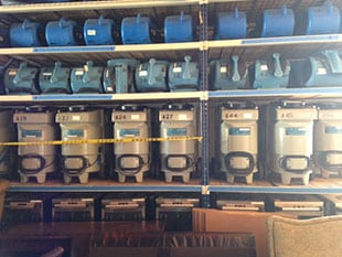 blowers, dehumidifiers, and equipment used for water damage repair in Murrieta.