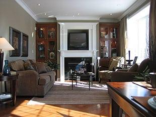 Fully restored living room in Lemon Grove