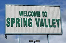Spring Valley sign