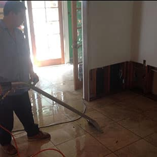 Vacuuming up water in Spring Valley