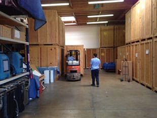 Our warehouse, used for content storage during damage restoration and repair jobs