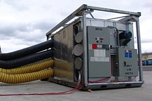 our Escondido water damage restoration experts use professional grade dehumidifiers