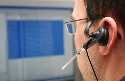 John, our National City water damage restoration call center tech, is on the phone with a client