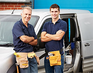 two of our water damage repair specialists are standing by with their truck