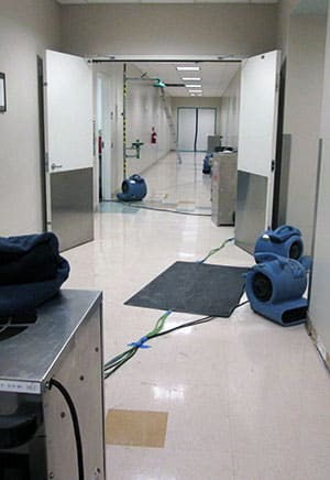 Commercial water damage restoration of a medical center in Chula Vista