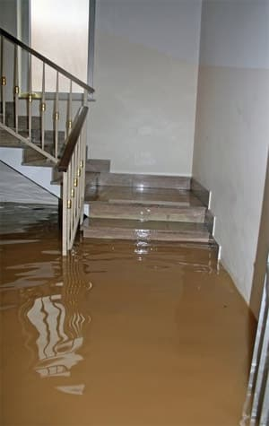 Flooded stairwell requires extensive water damage restoration in Chula Vista