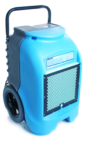 Drizair 1200 dehumidifier ready for a water damage restoration job in La Jolla, CA