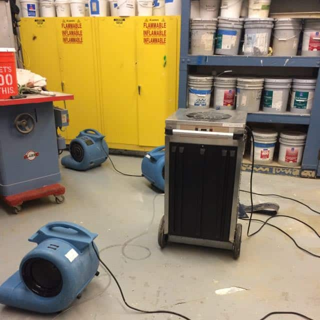 San Diego Marriott Marquis basement flood damage repair 5