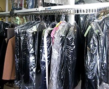 Dry cleaning clothing to remove smoke damage