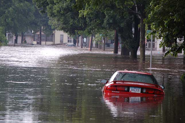Flood safety tip: don't drive into flood waters