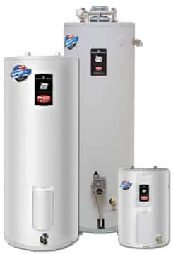 a leaking water heater can be changed with a new one from the Bradford White water heater family