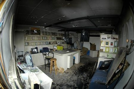 this fire damaged studio in Santa Ana, CA needed restoration