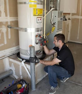 repairing a water heater leak