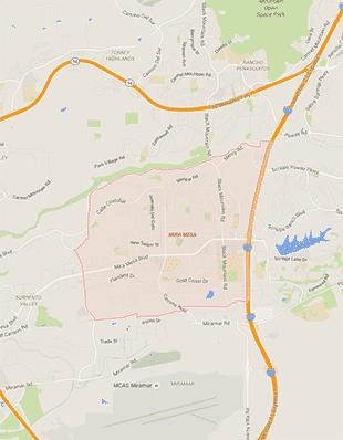 oe team covers Mira Mesa, CA and neighbouring areas