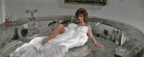 A fish-filled waterbed from James Bond's Diamonds are Forever