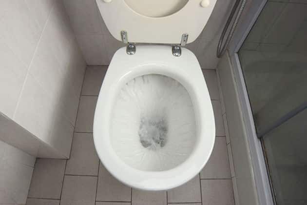toilet water damage