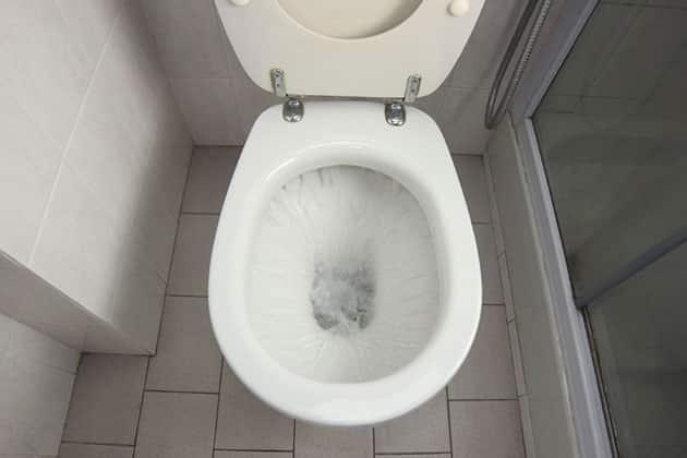 toilet water damage