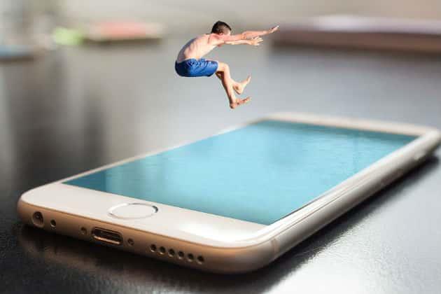 smartphone pool