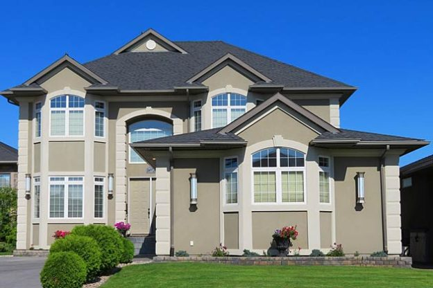 stucco house