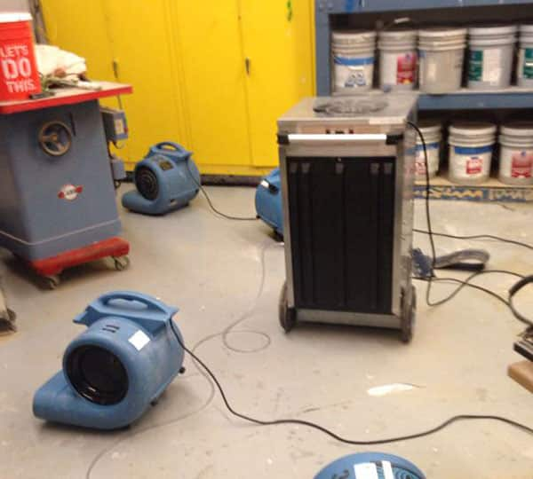 how long should I run a dehumidifier after a water leak?